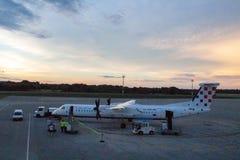 克罗地亚航空公司破折号Q400 9A-CQC 图库摄影