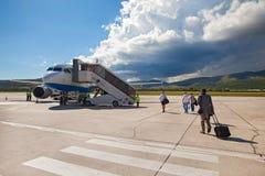 克罗地亚航空公司空中客车A319 免版税图库摄影