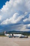 克罗地亚航空公司破折号8 Q400分裂 免版税库存照片