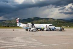 克罗地亚航空公司破折号8 Q400 库存照片