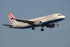 克罗地亚航空公司Aibus 免版税库存照片