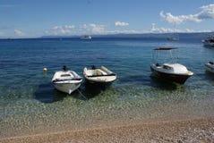 克罗地亚节假日 海,亚得里亚, Summe, r小船 免版税库存图片