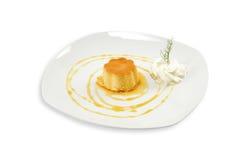 克罗地亚蛋糕Rozata 库存照片