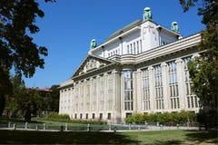 克罗地亚说明档案大厦在萨格勒布 免版税库存照片