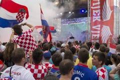 克罗地亚足球迷 库存照片