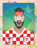 克罗地亚足球迷 免版税图库摄影