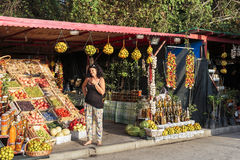 克罗地亚路旁市场 库存图片