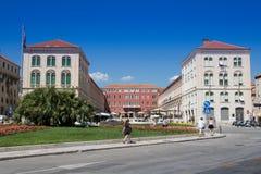 克罗地亚达尔马提亚著名遗产老站点分开的城镇科教文组织世界 库存图片