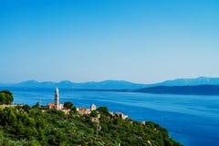 克罗地亚镇风景  库存图片