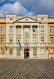 克罗地亚门面的议会 免版税库存照片