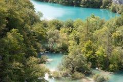 克罗地亚, Plitvice湖 图库摄影