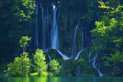 克罗地亚-国家公园的Plitvice湖在夏天 免版税图库摄影