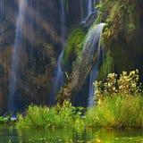 克罗地亚-国家公园的Plitvice湖在秋天 库存照片