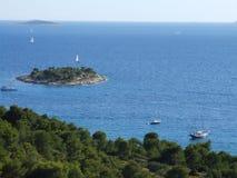 克罗地亚费用和海岛 免版税库存图片