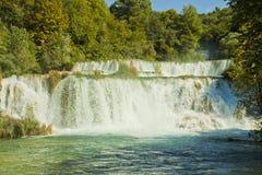 克罗地亚- Krka国家公园, Krka瀑布 免版税图库摄影