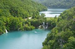 克罗地亚jezera湖plitvice plitvicka 图库摄影