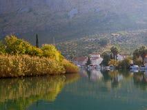 克罗地亚komolac城镇 免版税库存图片