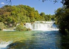 克罗地亚Krka国家公园, Krka瀑布 免版税库存照片