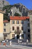 克罗地亚omis 小中央达尔马希亚镇 库存图片