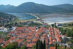 克罗地亚ston城镇 免版税库存照片
