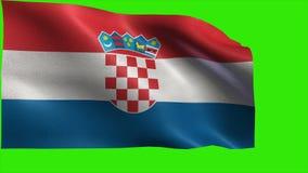 克罗埃西亚共和国,克罗地亚的旗子,克罗地亚旗子-圈 影视素材