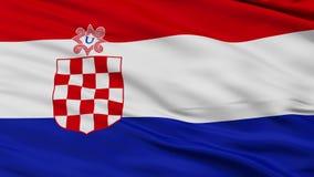 克罗埃西亚独立国战争旗子特写镜头无缝的圈 股票录像