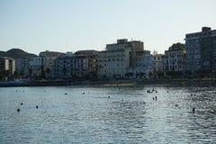 克罗托内,卡拉布里亚看法  免版税库存图片