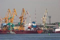 克莱佩达港口 免版税库存照片