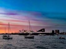 克莱佩达船游行 免版税库存图片