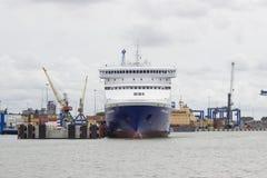 克莱佩达,立陶宛- 2016年8月10日:克莱佩达,立陶宛 从奈达的一艘客船向克莱佩达 采取 图库摄影