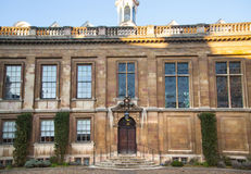 克莱尔学院内在围场视图,剑桥 库存图片