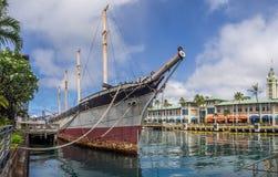 克莱德的秋天2016年8月6日的在檀香山港口 免版税图库摄影