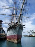 克莱德船檀香山夏威夷Martime中心的00046秋天 库存图片