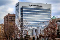 克莱斯勒加拿大总部 免版税图库摄影