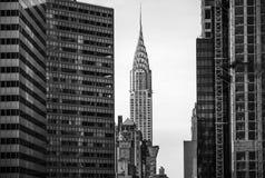 克莱斯勒大厦和曼哈顿建筑学 库存图片