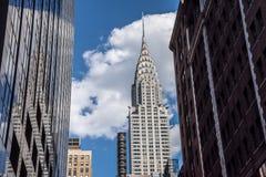 克莱斯勒大厦构筑了 免版税库存照片