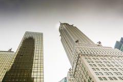 克莱斯勒大厦的底视图 库存图片