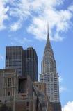 克莱斯勒大厦的门面在纽约 库存图片
