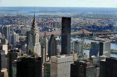 克莱斯勒大厦的鸟瞰图 免版税图库摄影