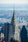 克莱斯勒摩天大楼曼哈顿纽约上面  免版税图库摄影