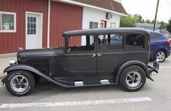 1931年克莱斯勒普利茅斯汽车侧视图 图库摄影