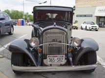 1931年克莱斯勒普利茅斯汽车正面图 库存照片