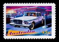 克莱斯勒英勇1962年,澳大利亚` s经典汽车serie,大约1997年 图库摄影
