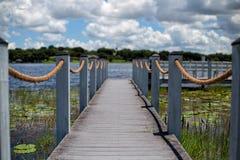 克莱蒙佛罗里达小船船坞 免版税图库摄影