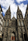 克莱蒙费朗大教堂在法国 库存图片
