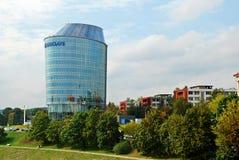 巴克莱银行办公室在维尔纽斯市 库存图片