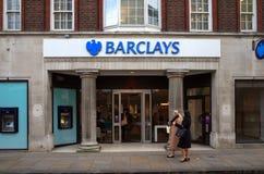 巴克莱银行-伦敦 库存照片