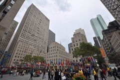 洛克菲勒中心,曼哈顿,纽约 免版税库存照片