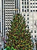洛克菲勒圣诞树 免版税库存照片