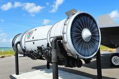 洛克西德・马丁F-35闪电II战斗机的普拉特&惠特尼F135引擎在新加坡Airshow 2012年 库存图片